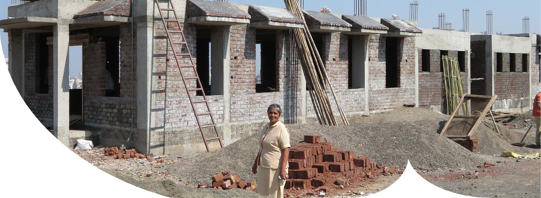 Die Baustelle im Gesundheitszentrum in Pune 2019