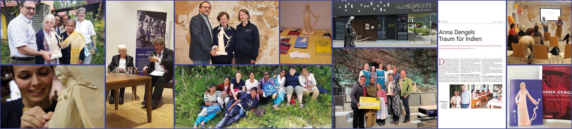 Verein Freunde Anna Dengel Collage von Bildern der Aktivitäten