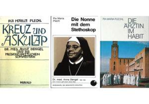 Spuren: Die drei Titel der Bücher von Pia Maria Plechl über Anna Dengel
