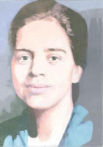 Spuren Kunst heute - neues Porträtbild der jungen Anna Dengel
