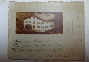 Spuren - Geburtshaus von Anna Dengel in Steeg auf Postkarte von 1916